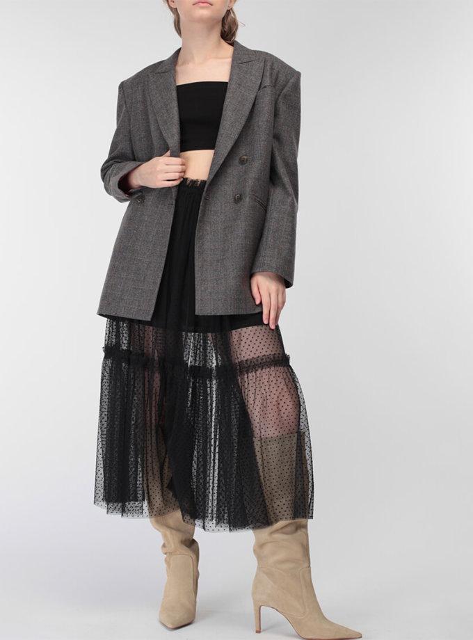 Топ бандо из хлопка MISS_Top-007-black, фото 1 - в интеренет магазине KAPSULA
