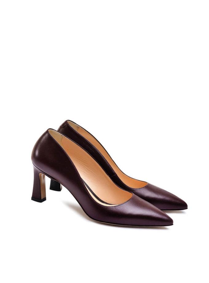 Кожаные туфли на среднем каблуке MDVV_621418, фото 1 - в интеренет магазине KAPSULA