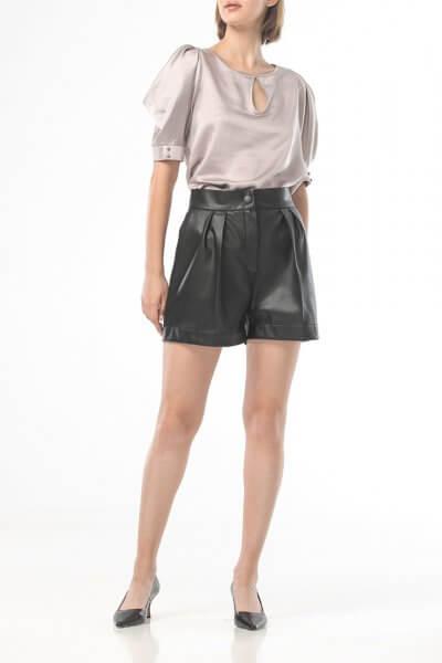 Короткие шорты из эко-кожи ALOT_030128, фото 1 - в интеренет магазине KAPSULA