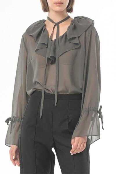 Прозрачная блуза из шифона ALOT_020225, фото 3 - в интеренет магазине KAPSULA