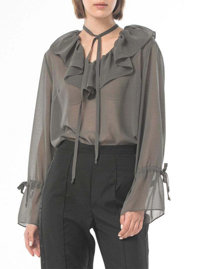 Прозрачная блуза из шифона ALOT_020225, фото 1 - в интеренет магазине KAPSULA