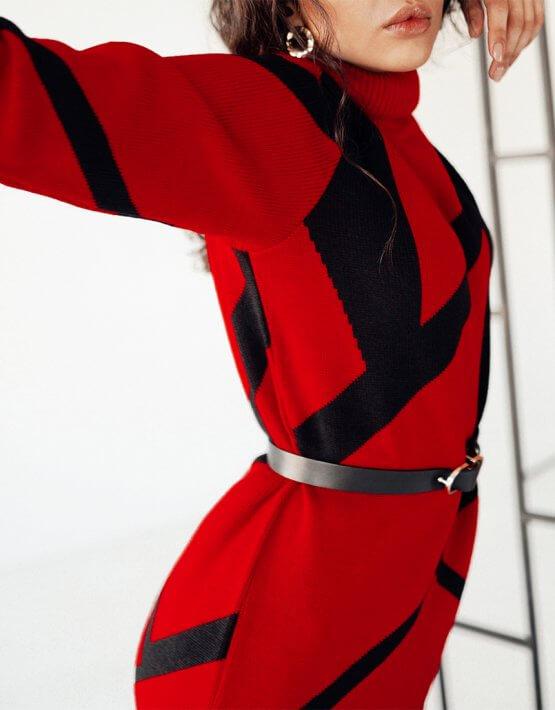 Вязаное платье из шерсти JDW_JD0309, фото 8 - в интеренет магазине KAPSULA