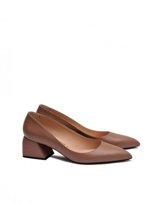 Кожаные туфли на среднем каблуке MDVV_800031, фото 4 - в интеренет магазине KAPSULA