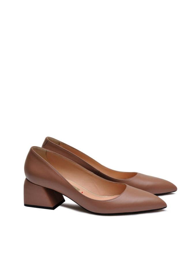 Кожаные туфли на среднем каблуке MDVV_800031, фото 1 - в интеренет магазине KAPSULA