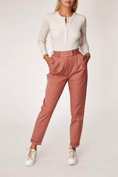 Хлопоковые брюки на резинке CVR_TERRAPAN20202, фото 6 - в интеренет магазине KAPSULA