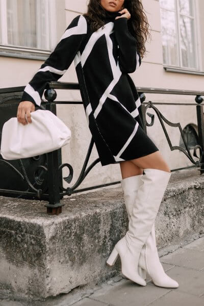 Вязаное платье из шерсти JDW_JD0409, фото 1 - в интеренет магазине KAPSULA
