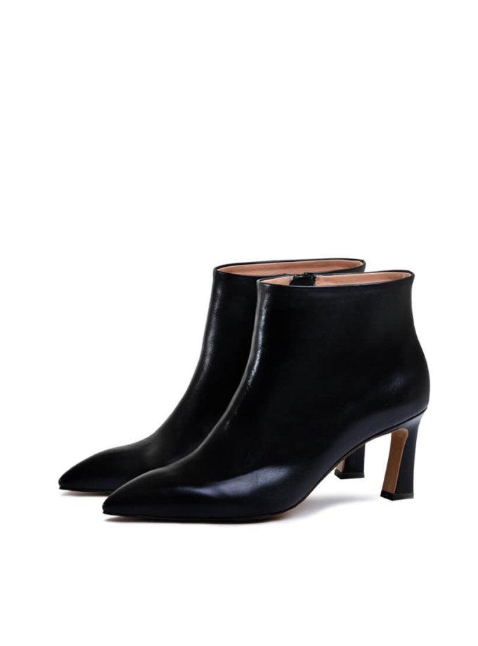 Кожаные ботинки на среднем каблуке MDVV_821503, фото 1 - в интеренет магазине KAPSULA