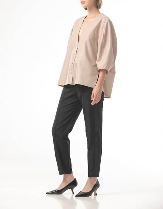 Рубашка с вырезом и объемными рукавами ALOT_020222, фото 5 - в интеренет магазине KAPSULA