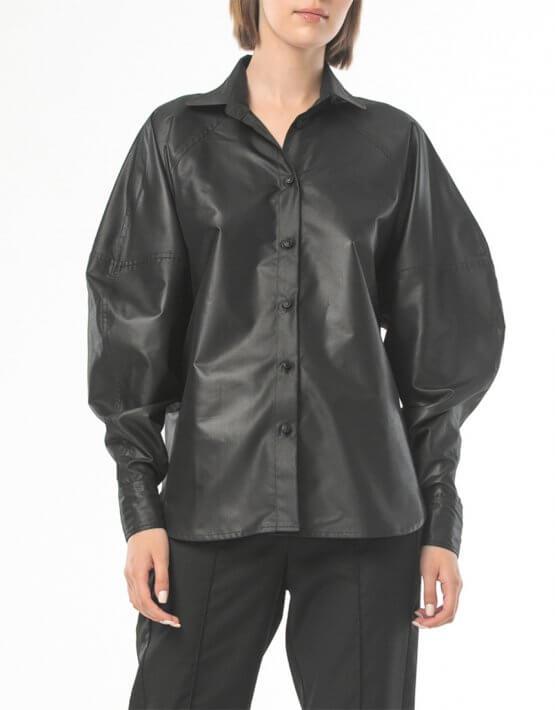 Рубашка с широкими манжетами ALOT_020213, фото 6 - в интеренет магазине KAPSULA