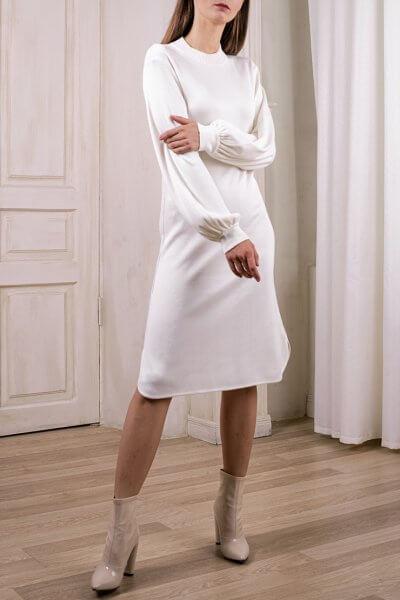 Легкое платье с объемными рукавами NBL_2008-DRFLM, фото 6 - в интеренет магазине KAPSULA