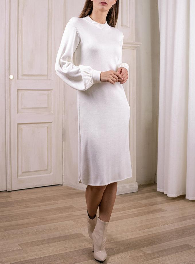 Легкое платье с объемными рукавами NBL_2008-DRFLM, фото 1 - в интеренет магазине KAPSULA