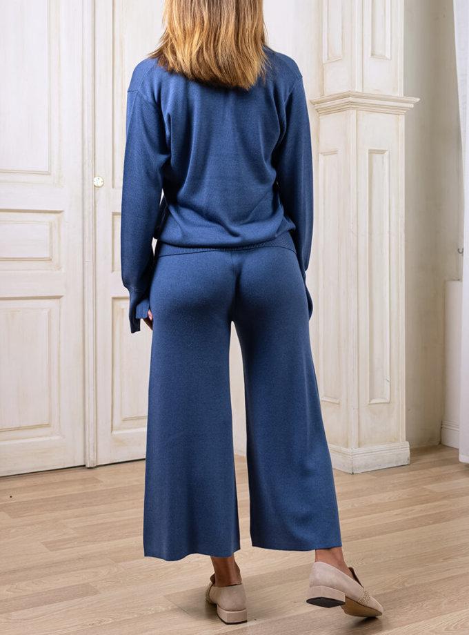 Вязаный костюм с кюлотами NBL_2008-SUITCULJUM, фото 1 - в интернет магазине KAPSULA