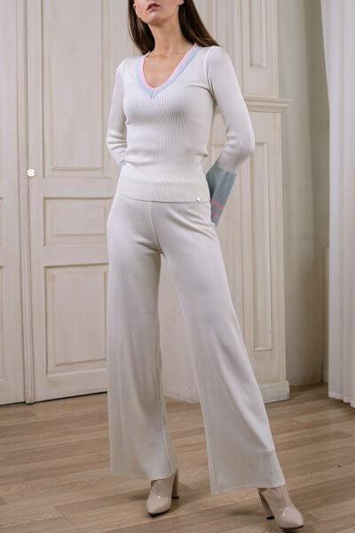 Широкие вязаные брюки NBL_2008-TJWIDEVW, фото 1 - в интеренет магазине KAPSULA