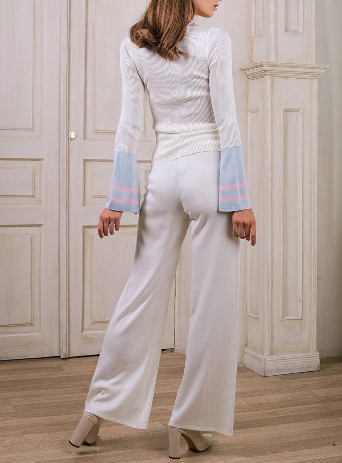 Широкие вязаные брюки NBL_2008-TJWIDEVW, фото 1 - в интернет магазине KAPSULA