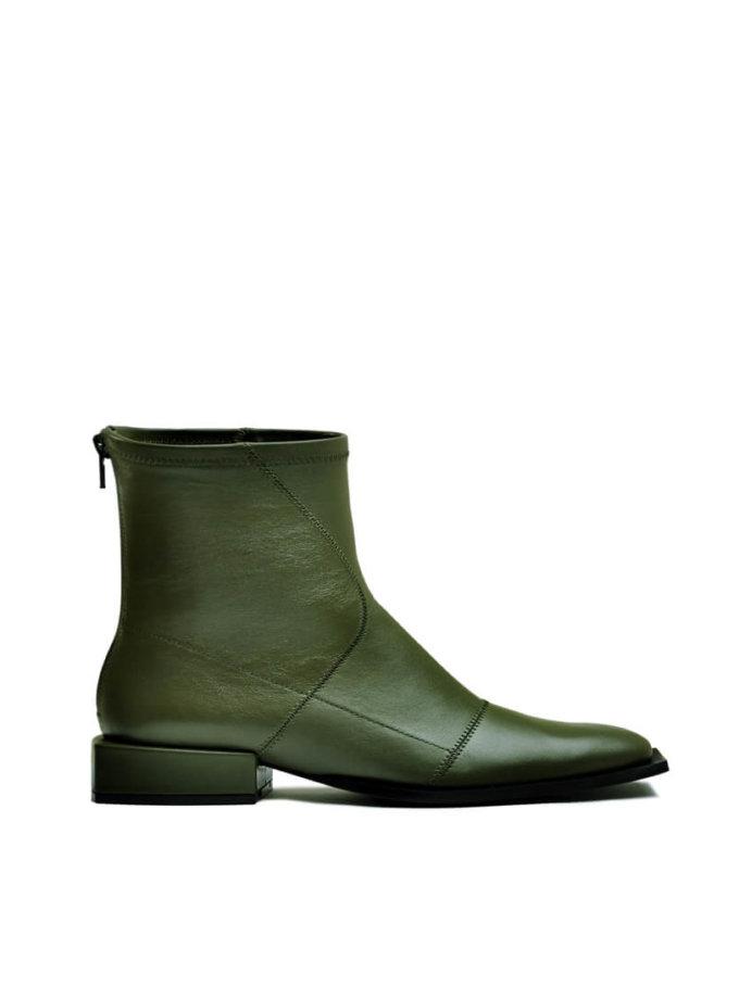 Кожаные ботинки на маленьком каблуке MDVV_888411, фото 1 - в интеренет магазине KAPSULA
