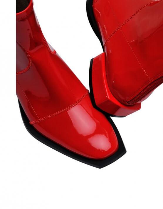 Лаковые ботинки из эко-кожи MDVV_888451, фото 4 - в интеренет магазине KAPSULA
