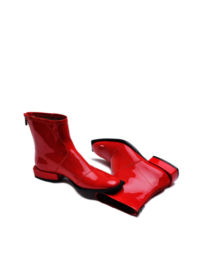 Лаковые ботинки из эко-кожи MDVV_888451, фото 1 - в интеренет магазине KAPSULA