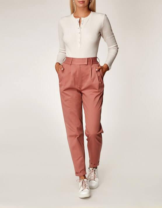 Хлопоковые брюки на резинке CVR_TERRAPAN20202, фото 4 - в интеренет магазине KAPSULA
