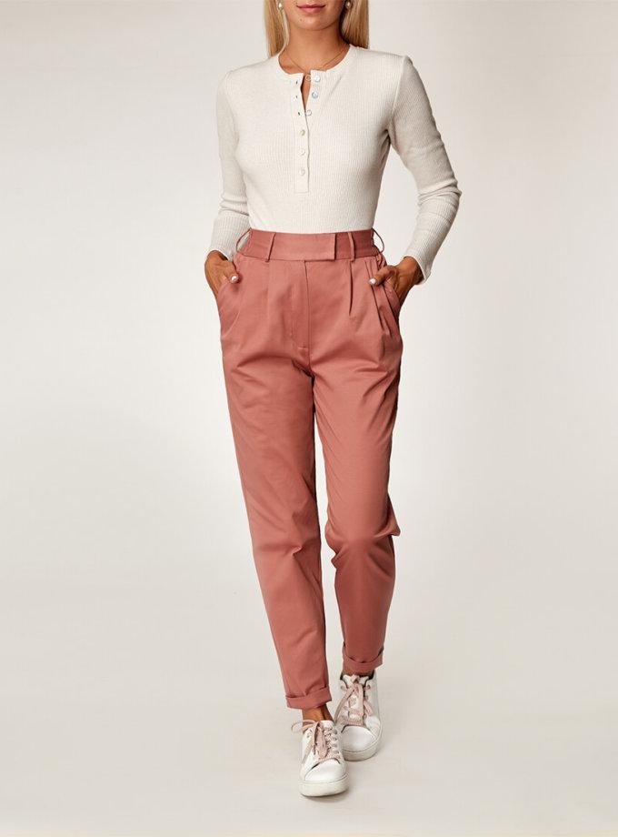 Хлопоковые брюки на резинке CVR_TERRAPAN20202, фото 1 - в интеренет магазине KAPSULA