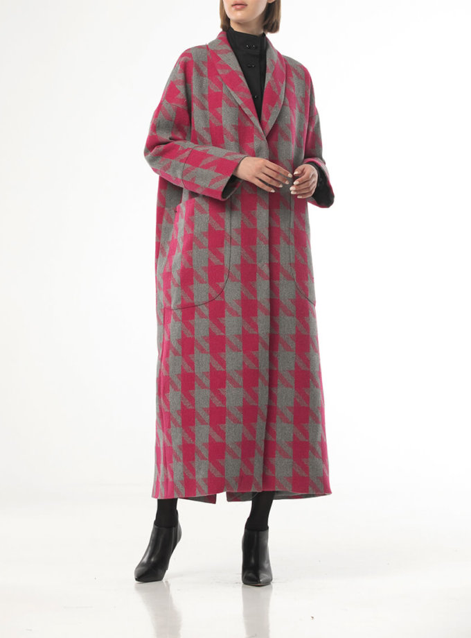 Пальто в гусиную лапку с поясом ALOT_500202, фото 1 - в интернет магазине KAPSULA