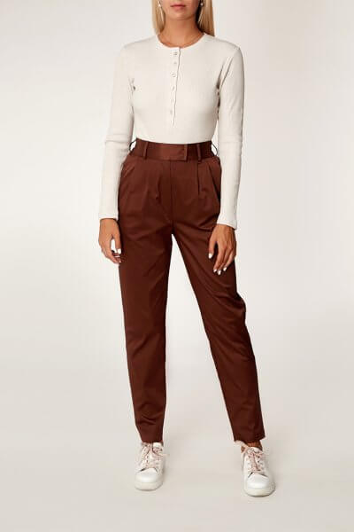Хлопоковые брюки на резинке CVR_CHOCOPAN2020, фото 1 - в интеренет магазине KAPSULA