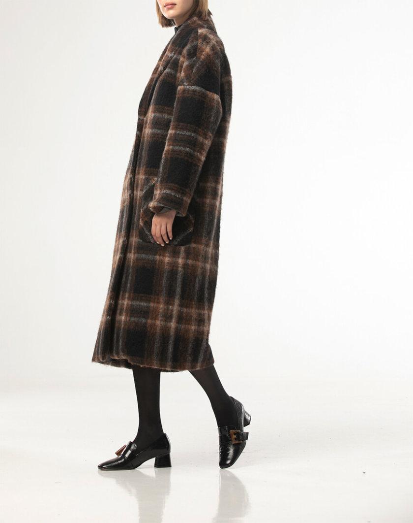 Шерстяное пальто в клетку ALOT_500210, фото 1 - в интернет магазине KAPSULA