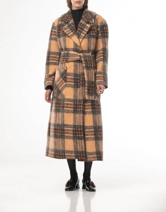 Шерстяное пальто в клетку ALOT_500209, фото 6 - в интеренет магазине KAPSULA