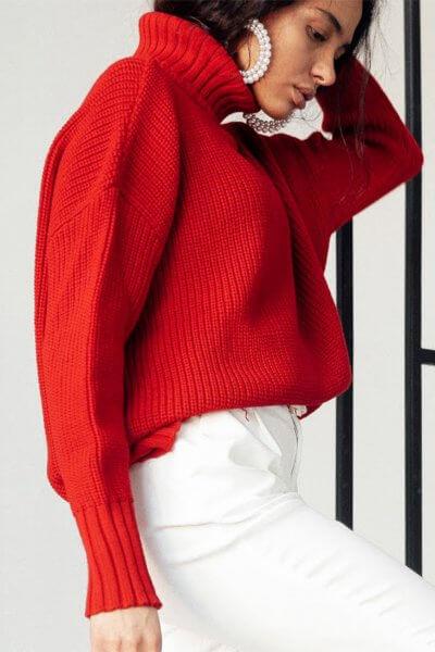 Свободный свитер из шерсти JDW_JD0509, фото 1 - в интеренет магазине KAPSULA