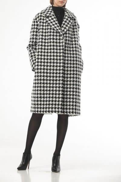 Пальто в черную гусиную лапку ALOT_500203, фото 4 - в интеренет магазине KAPSULA