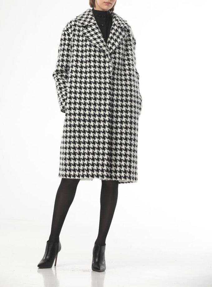 Пальто в черную гусиную лапку ALOT_500203, фото 1 - в интеренет магазине KAPSULA