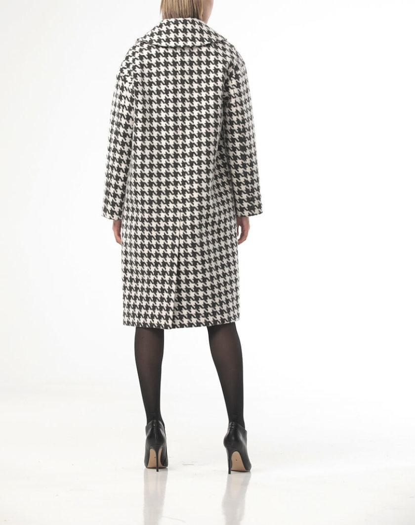 Пальто в серую гусиную лапку ALOT_500206, фото 1 - в интеренет магазине KAPSULA