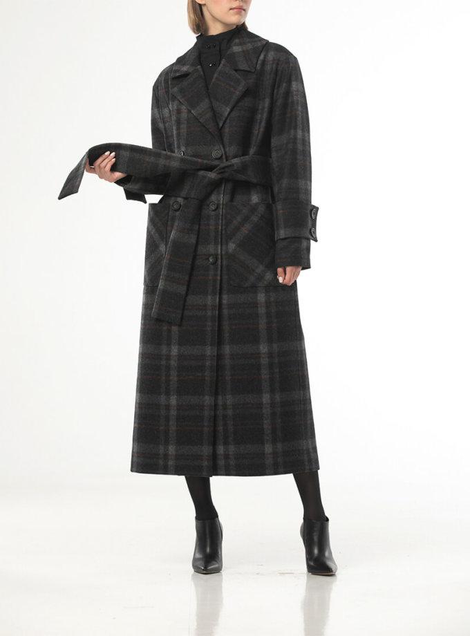Двубортное пальто из шерсти в крупную  клетку ALOT_500205, фото 1 - в интеренет магазине KAPSULA
