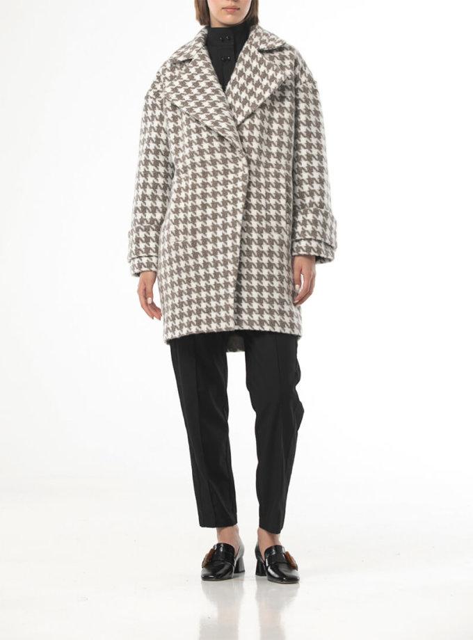 Пальто свободного кроя в гусиную лапку ALOT_500204, фото 1 - в интеренет магазине KAPSULA