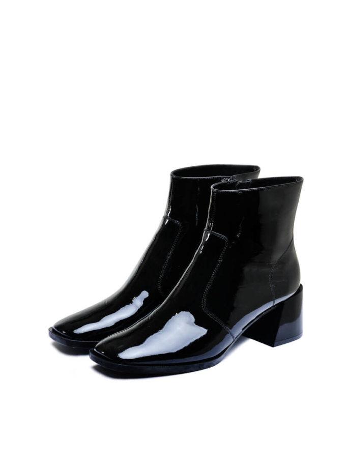 Лаковые ботинки на среднем каблуке MDVV_946031, фото 1 - в интеренет магазине KAPSULA