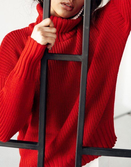 Свободный свитер из шерсти JDW_JD0509, фото 4 - в интеренет магазине KAPSULA