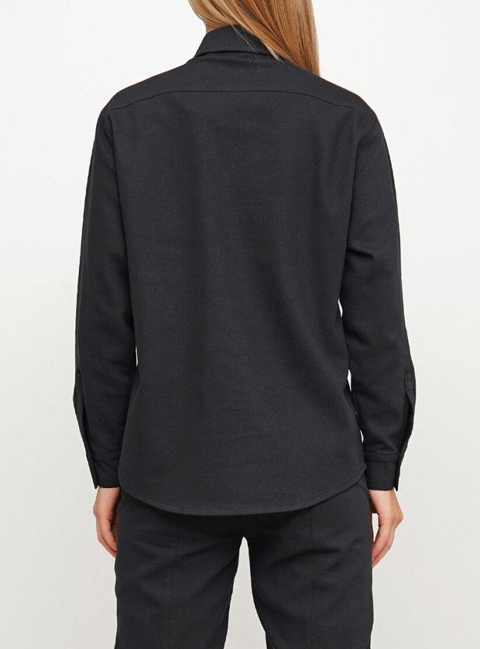 Джинсовая объёмная рубашка AY_3019, фото 1 - в интернет магазине KAPSULA