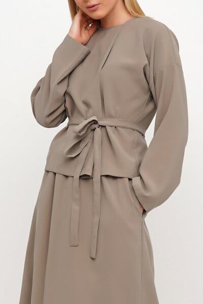 Хлопковая блуза с поясом AY_3022, фото 5 - в интеренет магазине KAPSULA