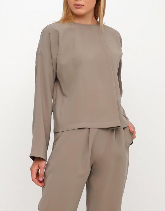 Хлопковая блуза с поясом AY_3022, фото 8 - в интеренет магазине KAPSULA