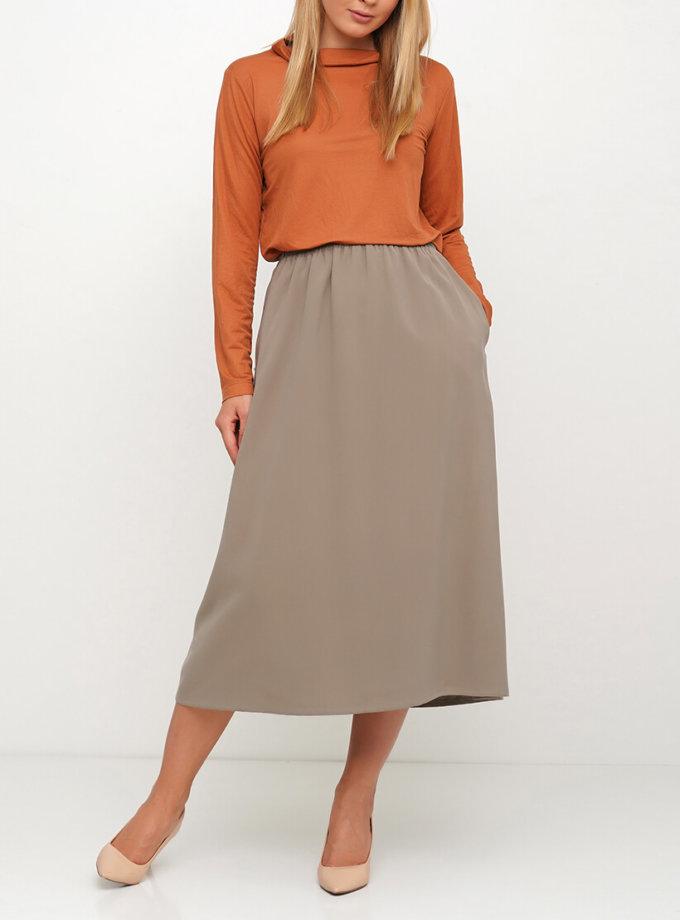 Хлопковая юбка на высокой посадке AY_3023, фото 1 - в интернет магазине KAPSULA