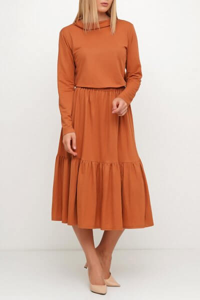 Двухярусная юбка миди AY_3027, фото 3 - в интеренет магазине KAPSULA