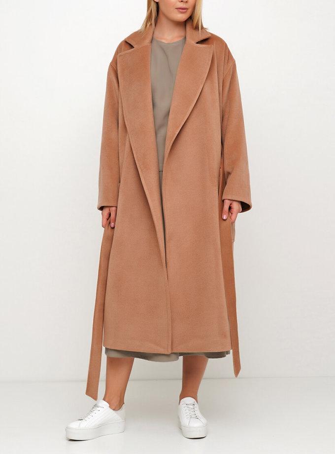 Шерстяное пальто на запах AY_3029, фото 1 - в интернет магазине KAPSULA