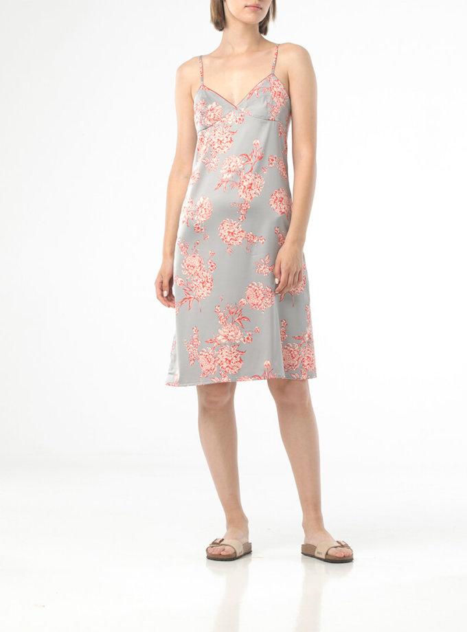 Ночная рубашка мини в цветочный принт ALOT_020223, фото 1 - в интеренет магазине KAPSULA