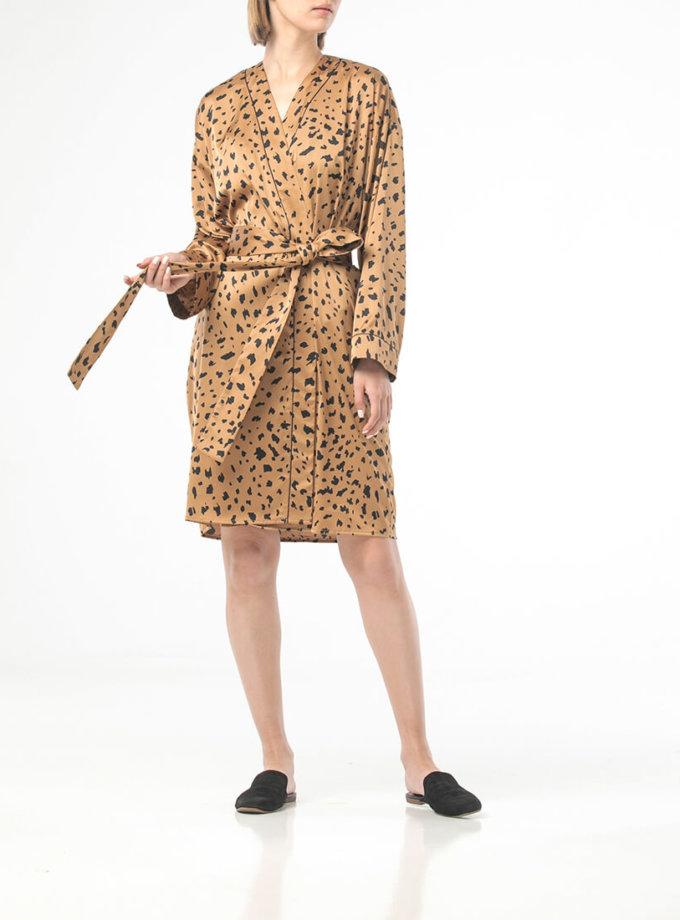 Халат в леопардовый принт на запах ALOT_100431, фото 1 - в интеренет магазине KAPSULA