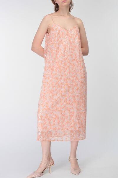 Платье с пайетками и V-вырезом сзади MISS_DR-031-pink, фото 3 - в интеренет магазине KAPSULA