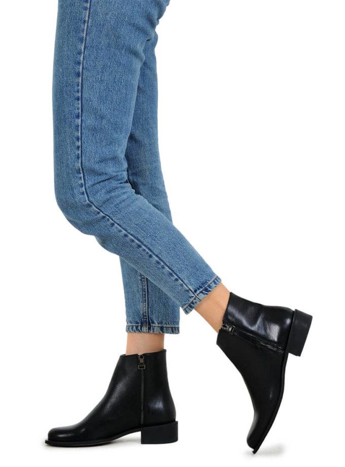 Кожаные ботинки на молнии MDVV_533117, фото 1 - в интеренет магазине KAPSULA