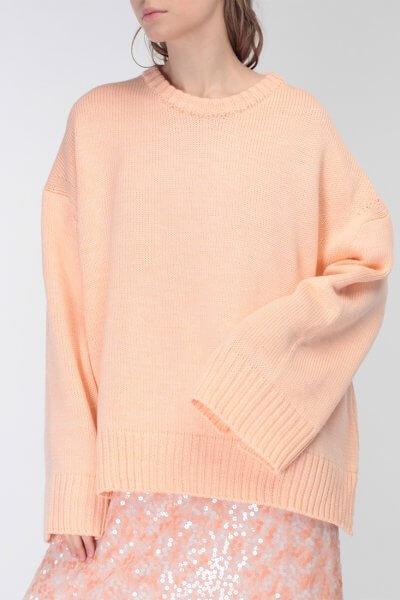 Объемный свитер из шерсти MISS_PU-015-orange, фото 2 - в интеренет магазине KAPSULA