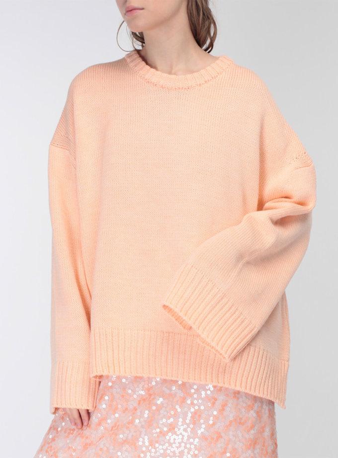 Объемный свитер из шерсти MISS_PU-015-orange, фото 1 - в интернет магазине KAPSULA
