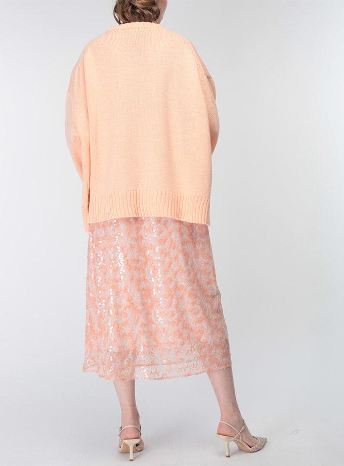 Объемный свитер из шерсти MISS_PU-015-orange, фото 1 - в интеренет магазине KAPSULA