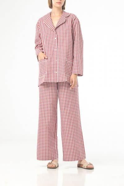 Хлопковая пижама в клетку ALOT_020220, фото 1 - в интеренет магазине KAPSULA
