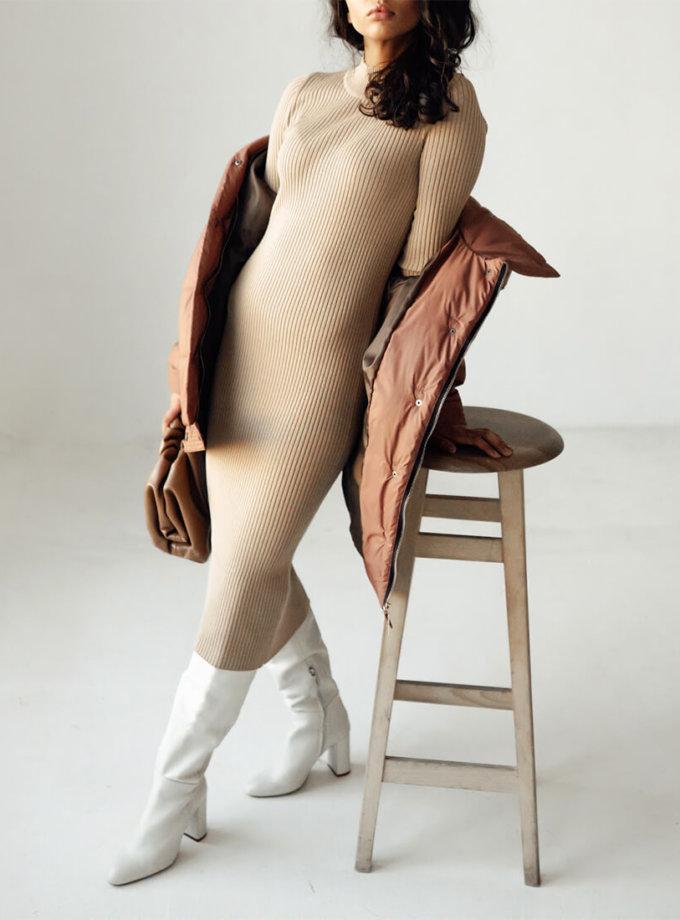 Платье в рубчик из шерсти JDW_JD1109, фото 1 - в интеренет магазине KAPSULA